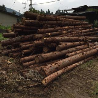 薪、薪材、丸太木材のヒノキ5、000円からの引き渡しです
