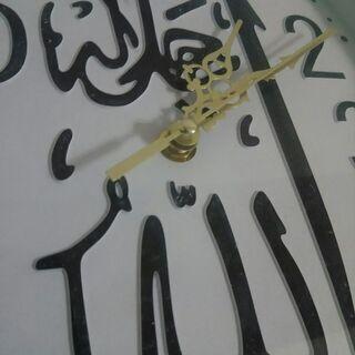 アラビア文字 珍しい イスラム 時計【ジャンク】