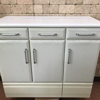 S115 キッチンカウンター 中古 白 サイズ 横105cm 高...