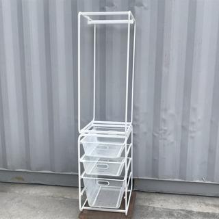格安で!IKEA アルゴット メッシュ 収納◇洋服ハンガー 2段