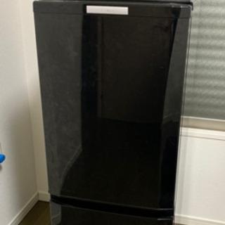 冷凍冷蔵庫 ブラック 146L