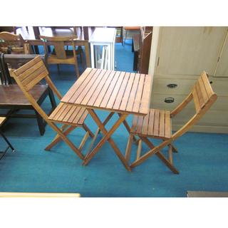 札幌 ガーデンテーブル イス×2 セット ガーデンチェア …