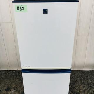 860番 SHARP✨ ノンフロン冷凍冷蔵庫❄️SJ-14VP-...