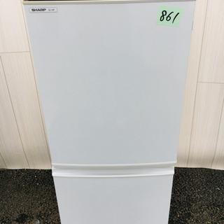 861番 SHARP✨ ノンフロン冷凍冷蔵庫❄️SJ-14P-H‼️