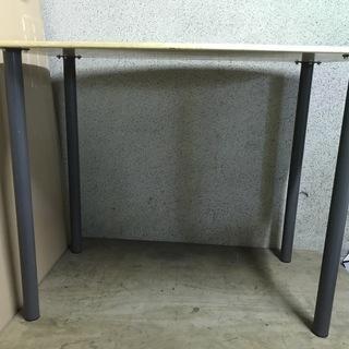 木製 ハイテーブル ダイニングテーブル 作業台 幅120cm×奥...