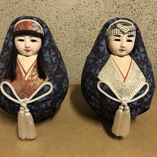 姫だるま 一対 姫達磨 夫婦達磨 日本人形2