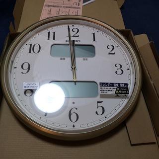 SEIKO セイコー LEDライト付 電波壁掛け時計 KX384...