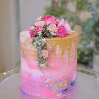 ケーキ 造花 結婚式