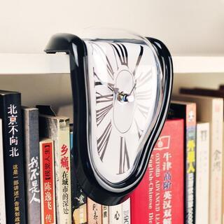 【新品未使用】ダリの柔らかい時計 ブラック(黒色)シルバー(銀色)