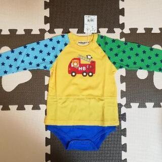 新品未使用 ミキハウス Tシャツ風ロンパース 90