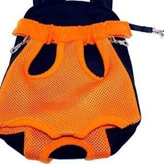 新品 オレンジ Sサイズ ペット用品 おでかけ リュック 抱っこ...