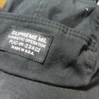 値下げ💡Supremeのキャップ激安4千円!洋服に合わせやすい黒