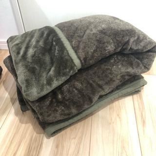冬用 毛布 (ブラウン)