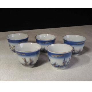 c171 古伊万里 煎茶碗5客 茶道具