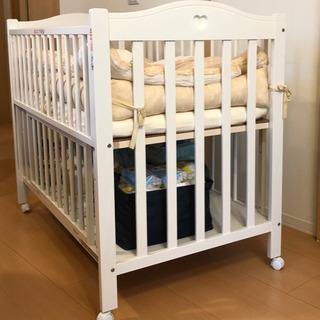 日本製ベビーベッド プロヴァンス ホワイト 石崎家具