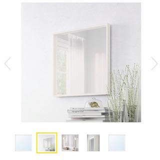 IKEA ホワイト ミラー 鏡