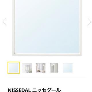 IKEA ホワイト ミラー 鏡 − 千葉県