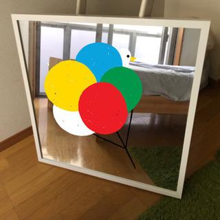 IKEA ホワイト ミラー 鏡 - 売ります・あげます