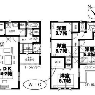 増税前に是非★月々支払い48594円で新築が購入可能★駐車場付き...