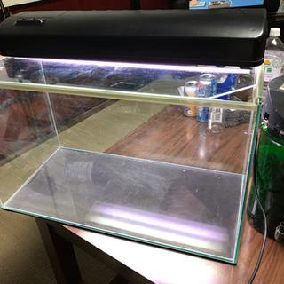 60センチオールガラス水槽 外部ろ過、ライト付き