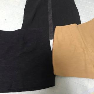 USED スカート2枚+キュロット1枚 ウェスト64 SーM