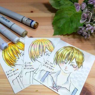 8月24日開催 コピックで金髪キャラを描こう!