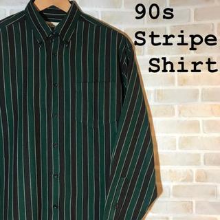 【90s】 古着 Stripe Shirt ストライプデザインシャツ