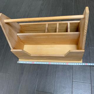木製 道具箱 ツールボックス トールペイント デコパージュ