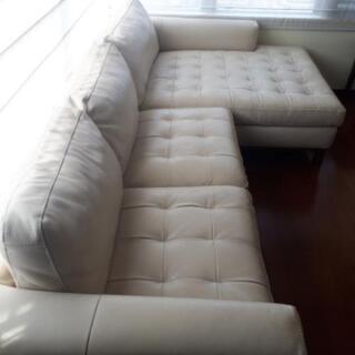 イタリアのナツッジの総革張りソファです。