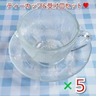 ティーカップ&受け皿 5客セット♡