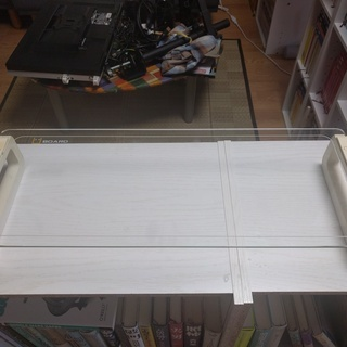 【値下げ】強化ガラスモニター台