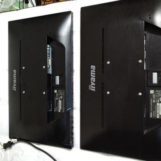 iiyama 23インチモニタ(ディスプレイ) 2台&モニタアーム
