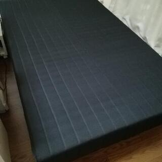 セミダブルベッド 脚付きマットレス ブラック×ナチュラル脚