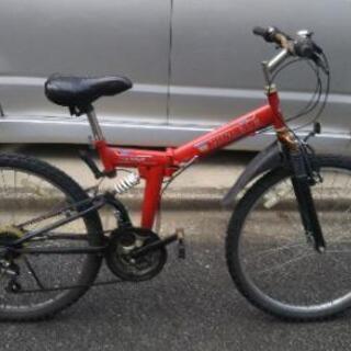 【ジャンク】赤のマウンテンバイク 26インチ