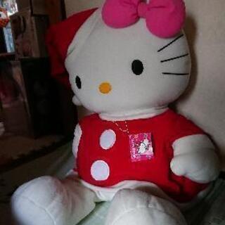 キティちゃん ビック クリスマスバージョンヌイグルミ(中古)