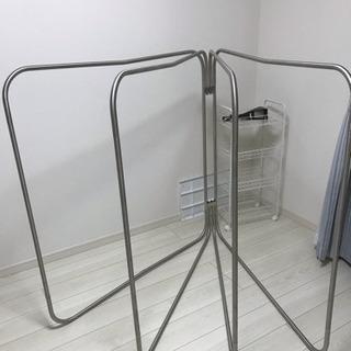 洗濯干し コンパクトにたためます。
