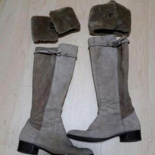 (定価5万円) かねまつ  ファー付き ブーツ
