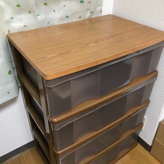 収納ボックス4段  衣類収納箪笥