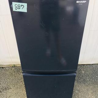 887番 SHARP✨ ノンフロン冷凍冷蔵庫❄️SJ-14S-B‼️
