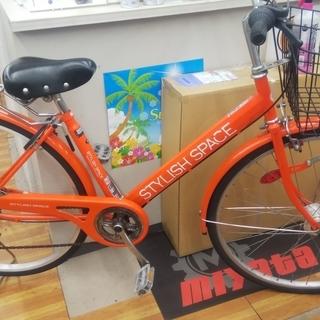 変速6段 オートライト 27インチ  綺麗なオレンジカラーです。