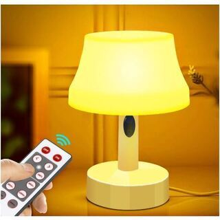 ベッドサイドランプ 調光調色 リモコン付 USB充電式/乾電池給電