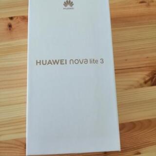 【新品未開封品 SIMフリー Huawei novalite 3