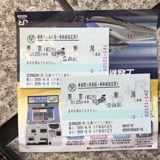 【至急・本日のみ】 JR 上越新幹線 東京→新潟 自由席 価格応相談