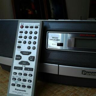 パナソニック CDダブルラジカセ 重低音 動作確認済 リモコン付 - 家電