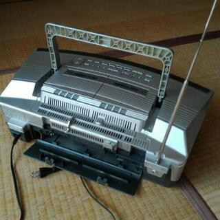 パナソニック CDダブルラジカセ 重低音 動作確認済 リモコン付 − 愛知県