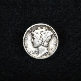 アンティーク硬貨 10¢(1943年)