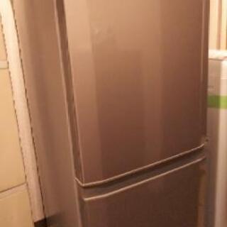 2017年製三菱冷蔵庫MR-P15A(グレー色)