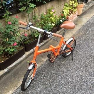 自転車 折り畳み オレンジ - 文京区