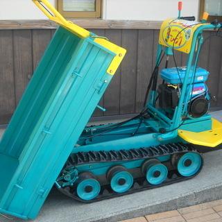 クボタ・築水キャニコム・立ち乗り手動ダンプ・農業機械・運搬車