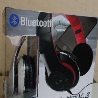 MP3プレーヤー搭載Bluetoothヘッドホン【赤】